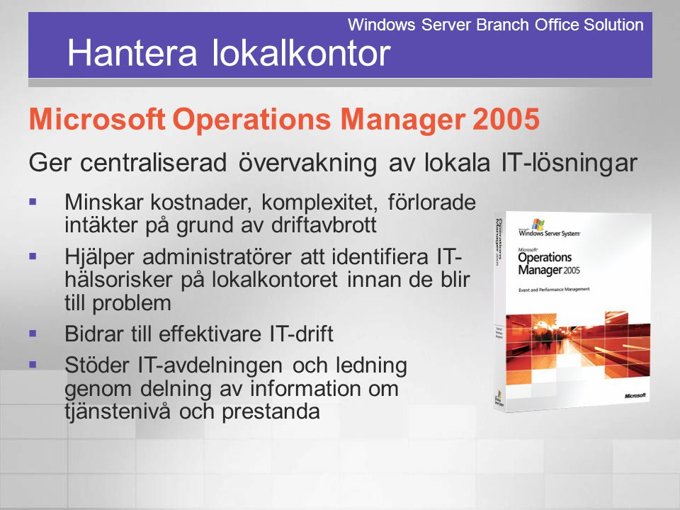 Windows Server Branch Office Solution