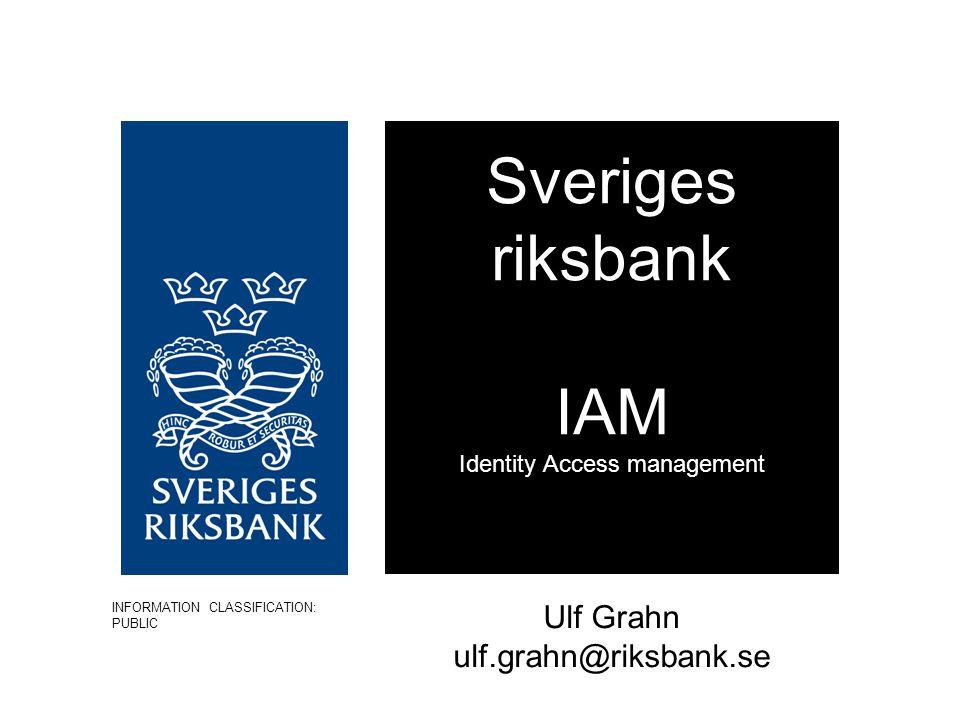 Sveriges riksbank IAM Identity Access management