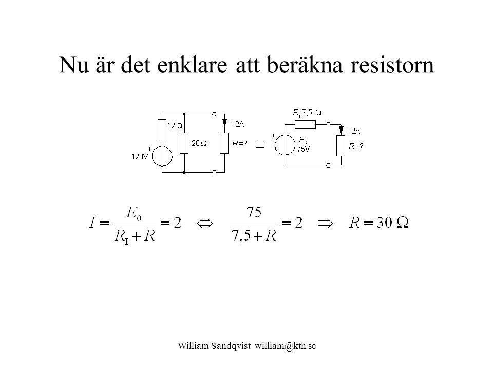 Nu är det enklare att beräkna resistorn