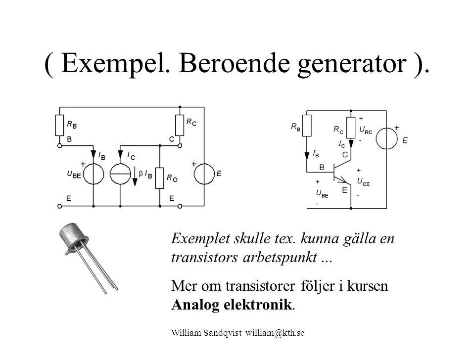 ( Exempel. Beroende generator ).