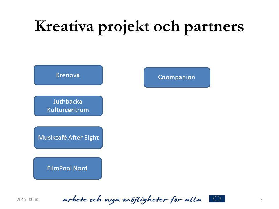 Kreativa projekt och partners