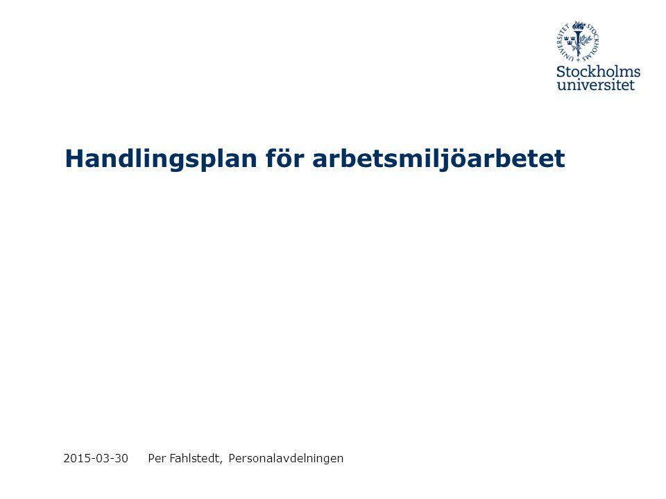 Handlingsplan för arbetsmiljöarbetet