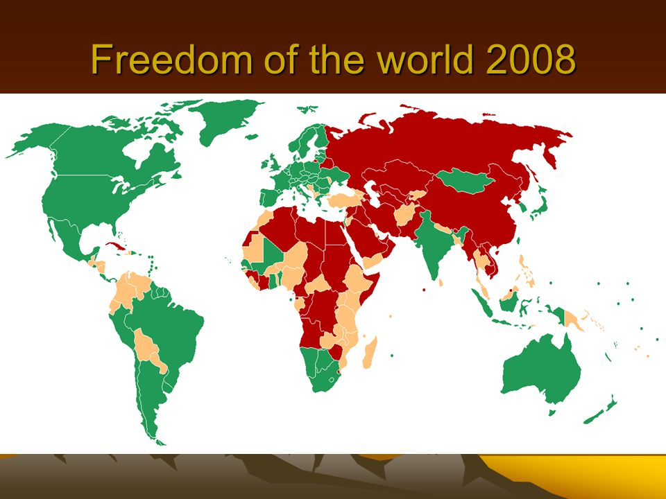 Freedom of the world 2008