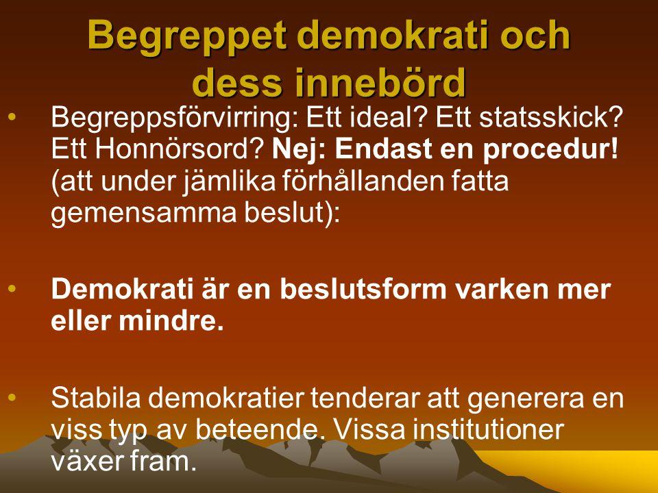 Begreppet demokrati och dess innebörd