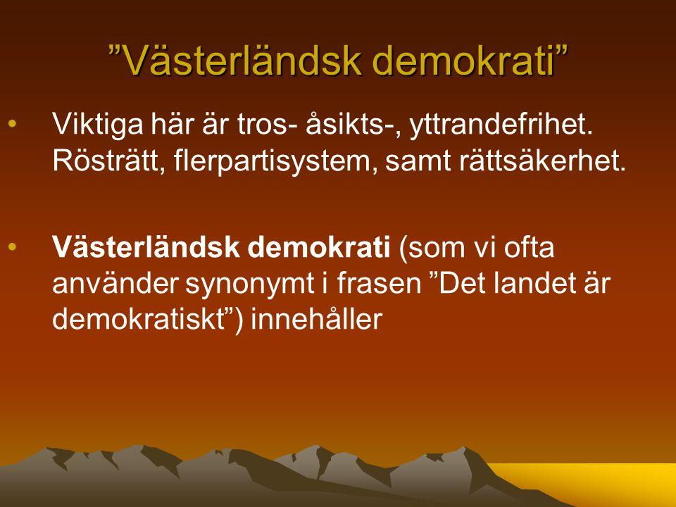 Västerländsk demokrati