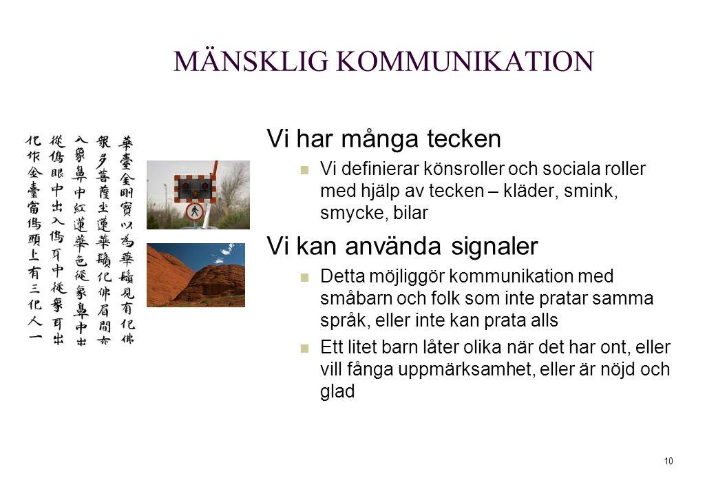MÄNSKLIG KOMMUNIKATION