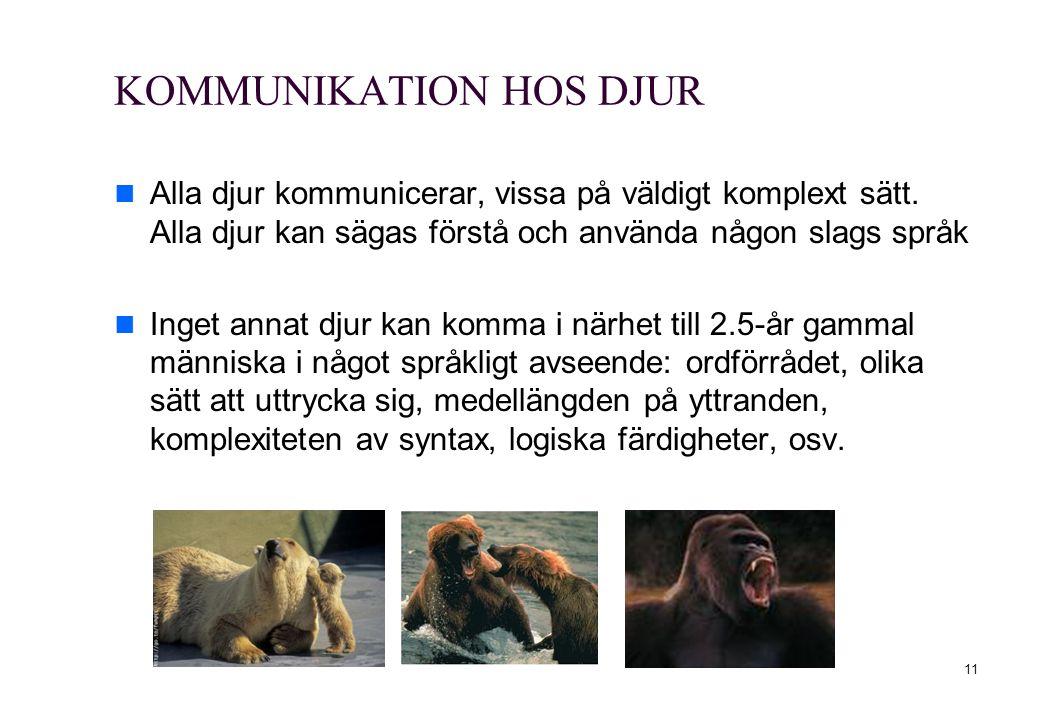 KOMMUNIKATION HOS DJUR