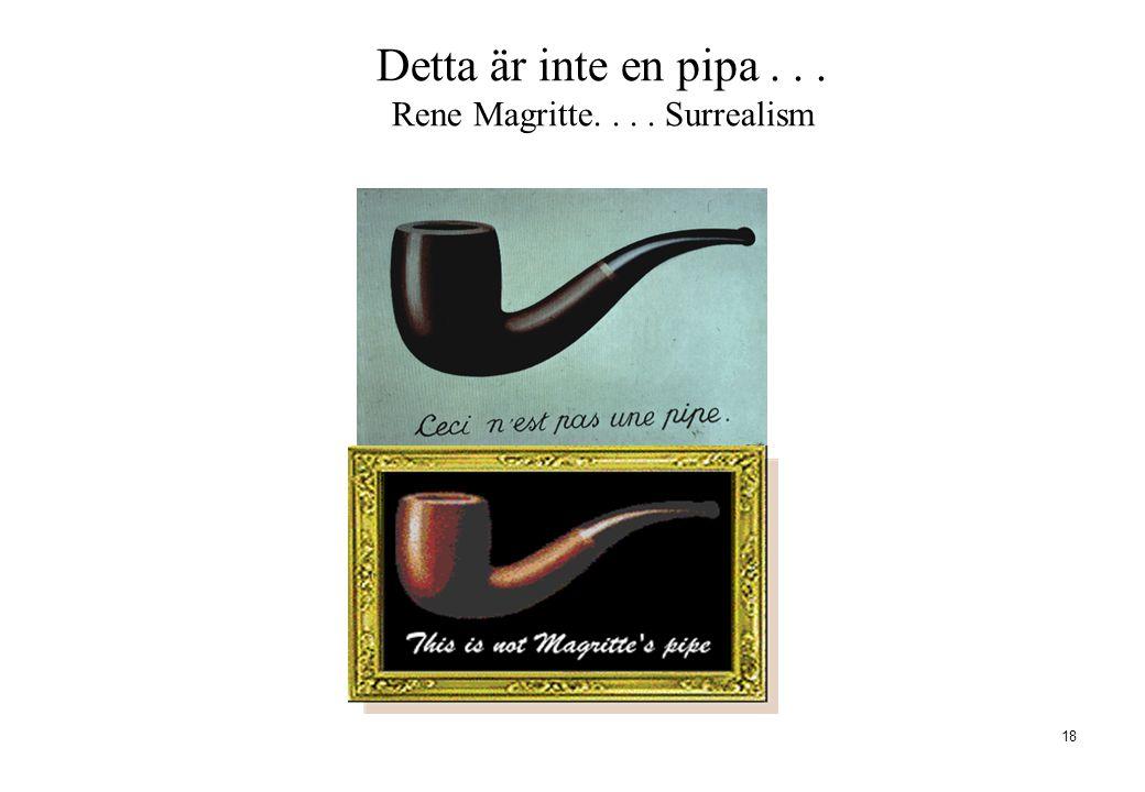 Detta är inte en pipa . . . Rene Magritte. . . . Surrealism