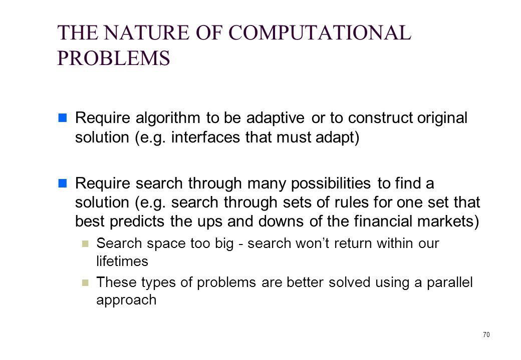 THE NATURE OF COMPUTATIONAL PROBLEMS