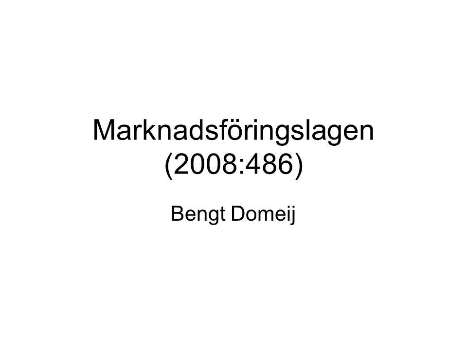 Marknadsföringslagen (2008:486)