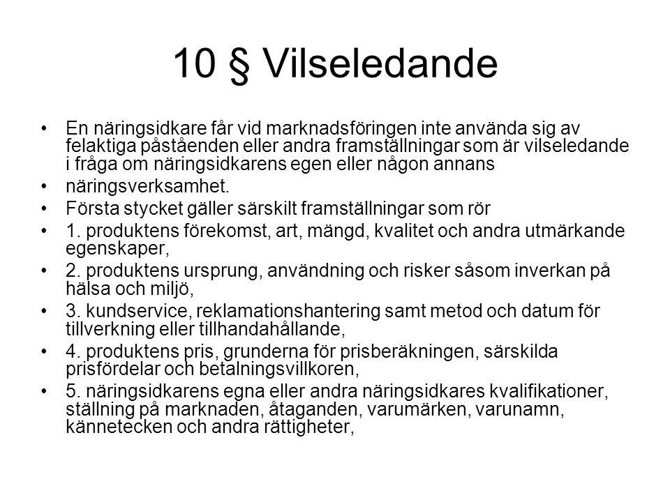 10 § Vilseledande