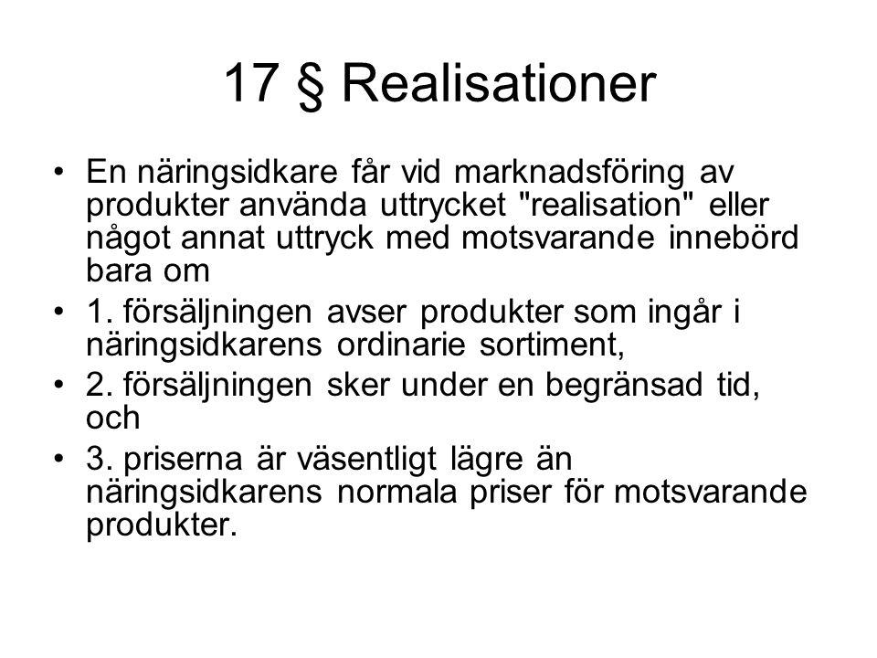 17 § Realisationer