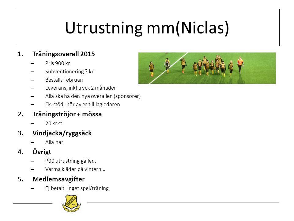 Utrustning mm(Niclas)