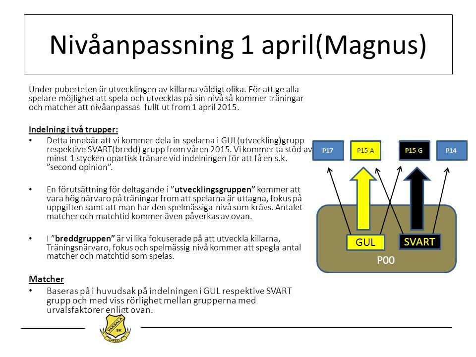 Nivåanpassning 1 april(Magnus)
