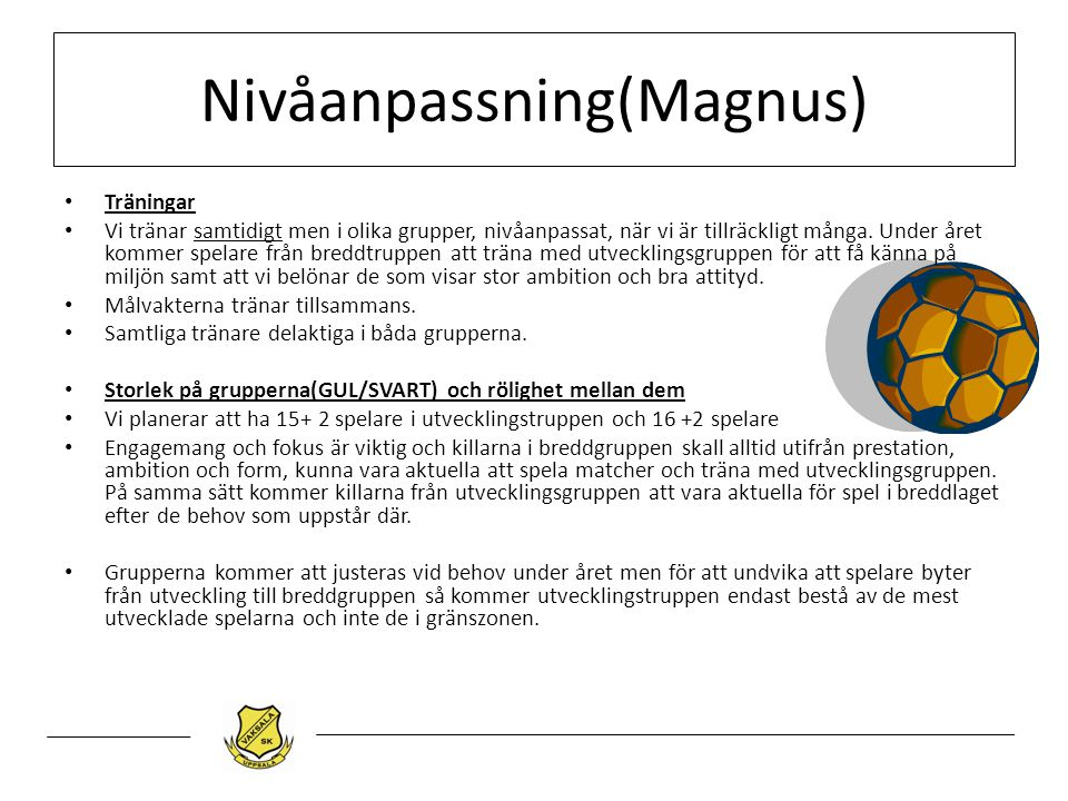 Nivåanpassning(Magnus)