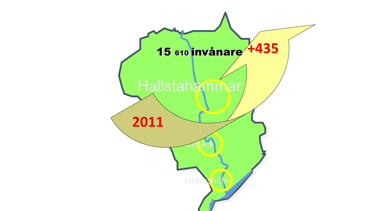 15 610 invånare 2011 +435 Hallstahammar Kolbäck Strömsholm