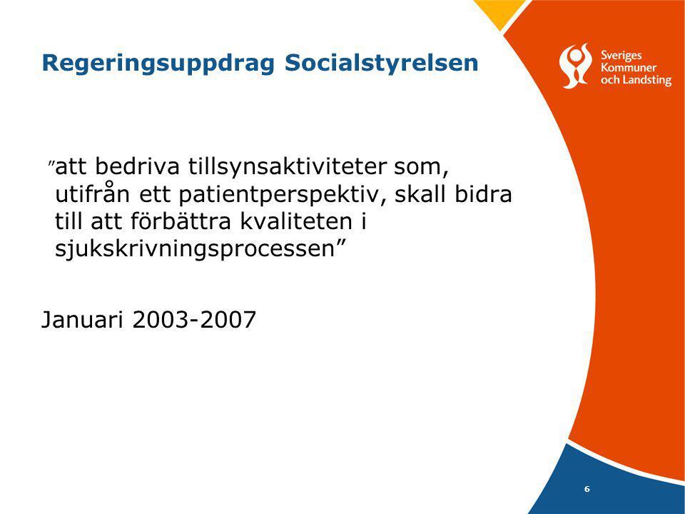 Regeringsuppdrag Socialstyrelsen