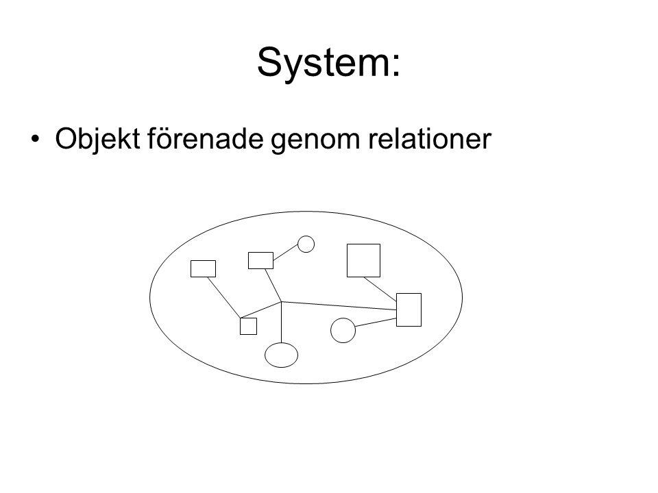 System: Objekt förenade genom relationer