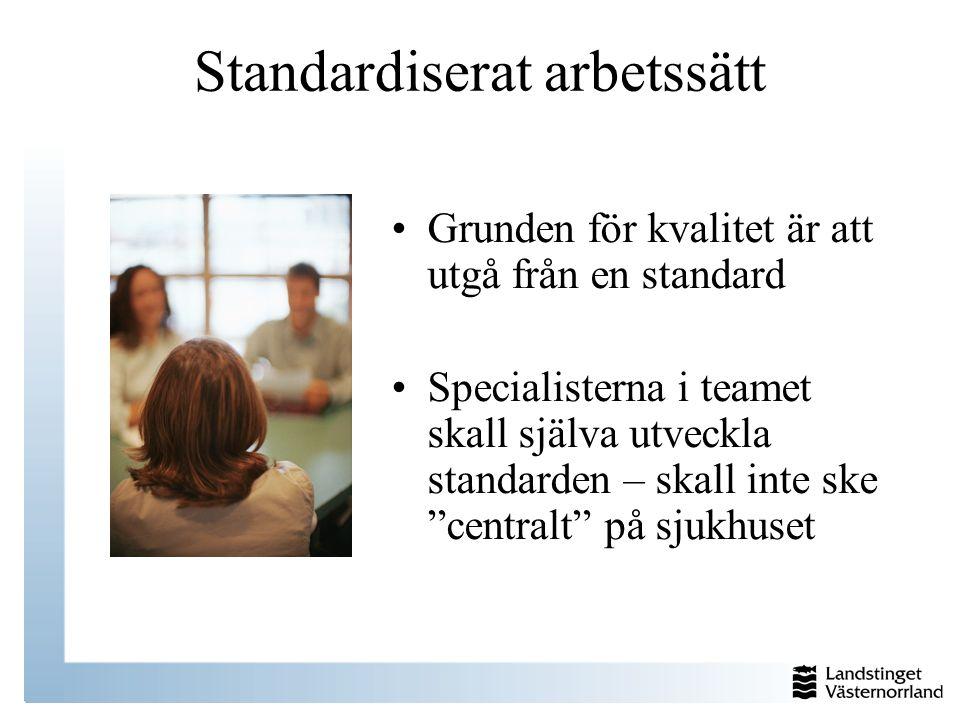 Standardiserat arbetssätt