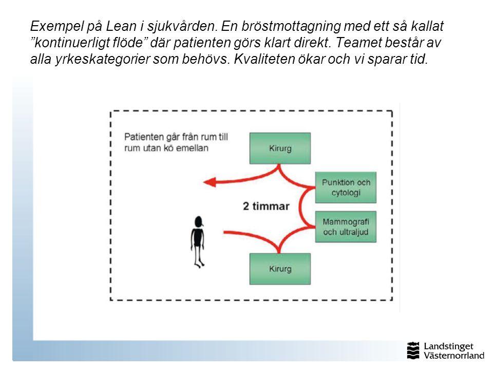 Exempel på Lean i sjukvården