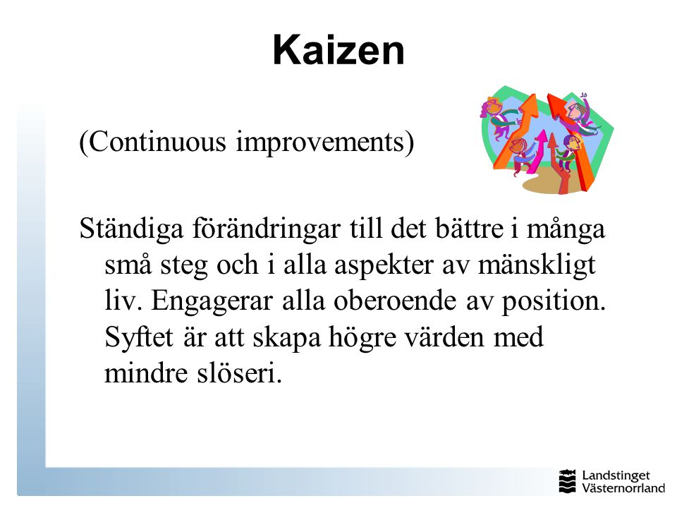 Kaizen (Continuous improvements)