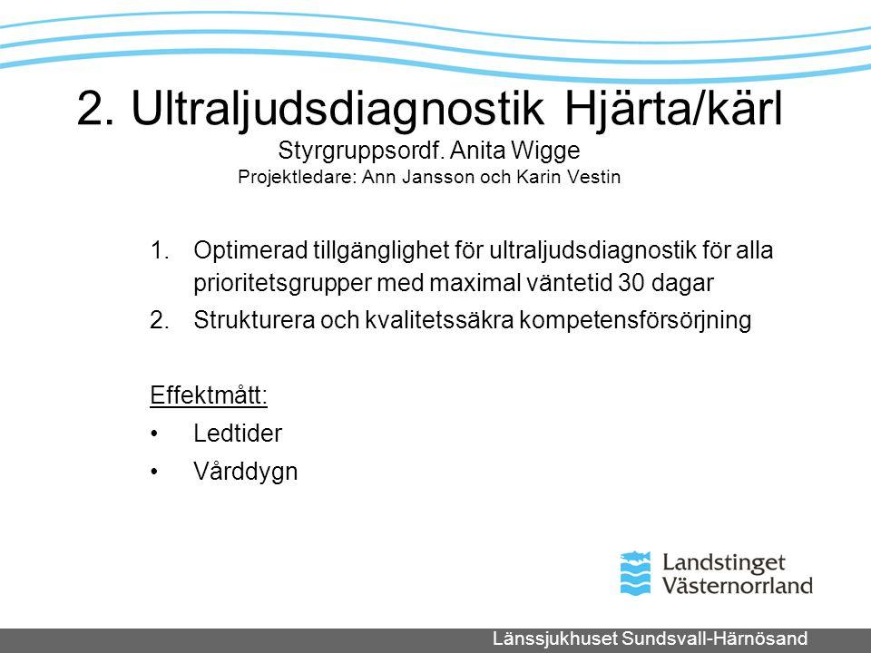 2. Ultraljudsdiagnostik Hjärta/kärl Styrgruppsordf