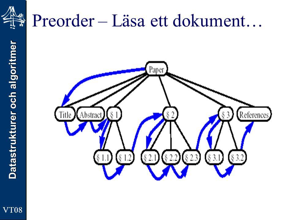 Preorder – Läsa ett dokument…