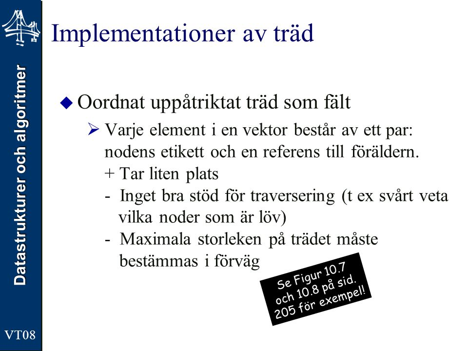 Implementationer av träd