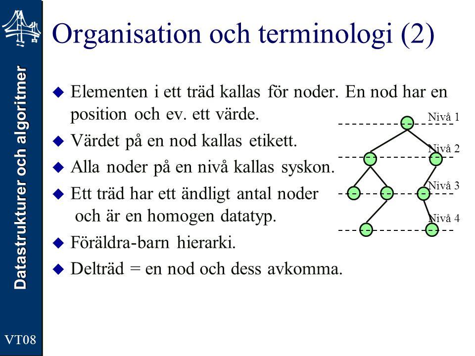 Organisation och terminologi (2)