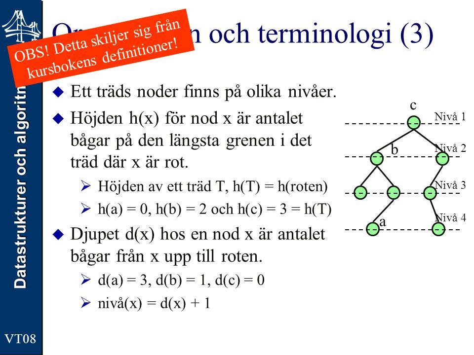 Organisation och terminologi (3)