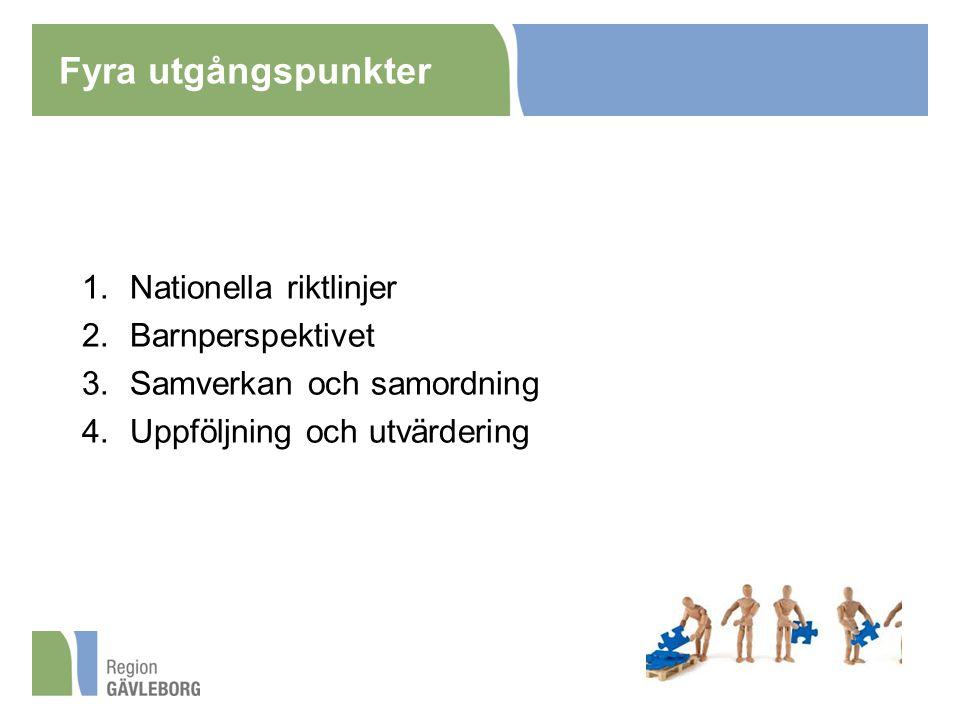 Fyra utgångspunkter Nationella riktlinjer Barnperspektivet