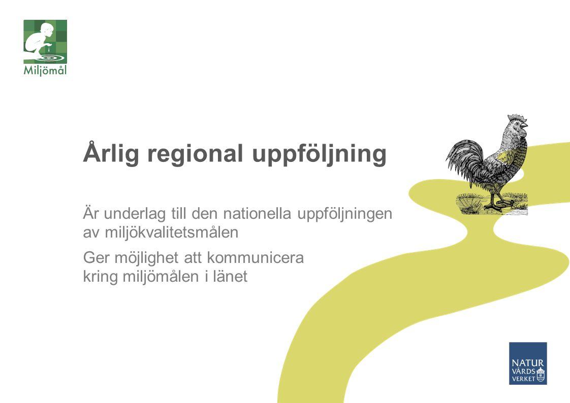 Årlig regional uppföljning