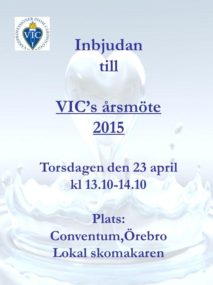 Torsdagen den 23 april kl 13.10-14.10 Plats: Conventum,Örebro