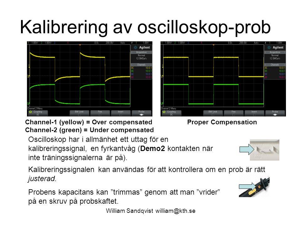 Kalibrering av oscilloskop-prob