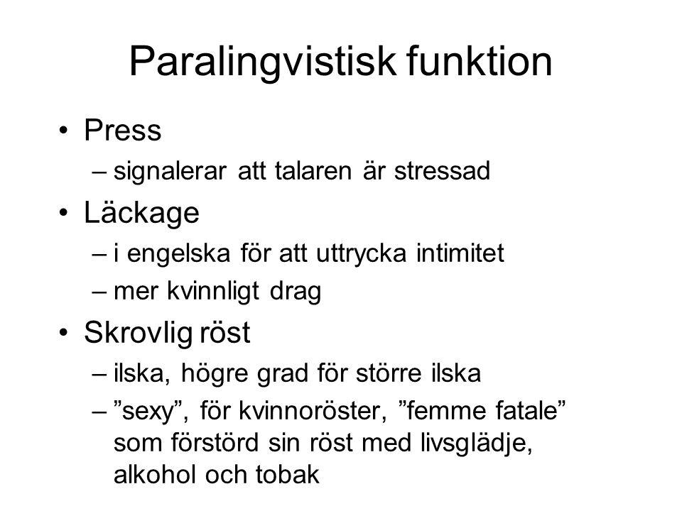 Paralingvistisk funktion
