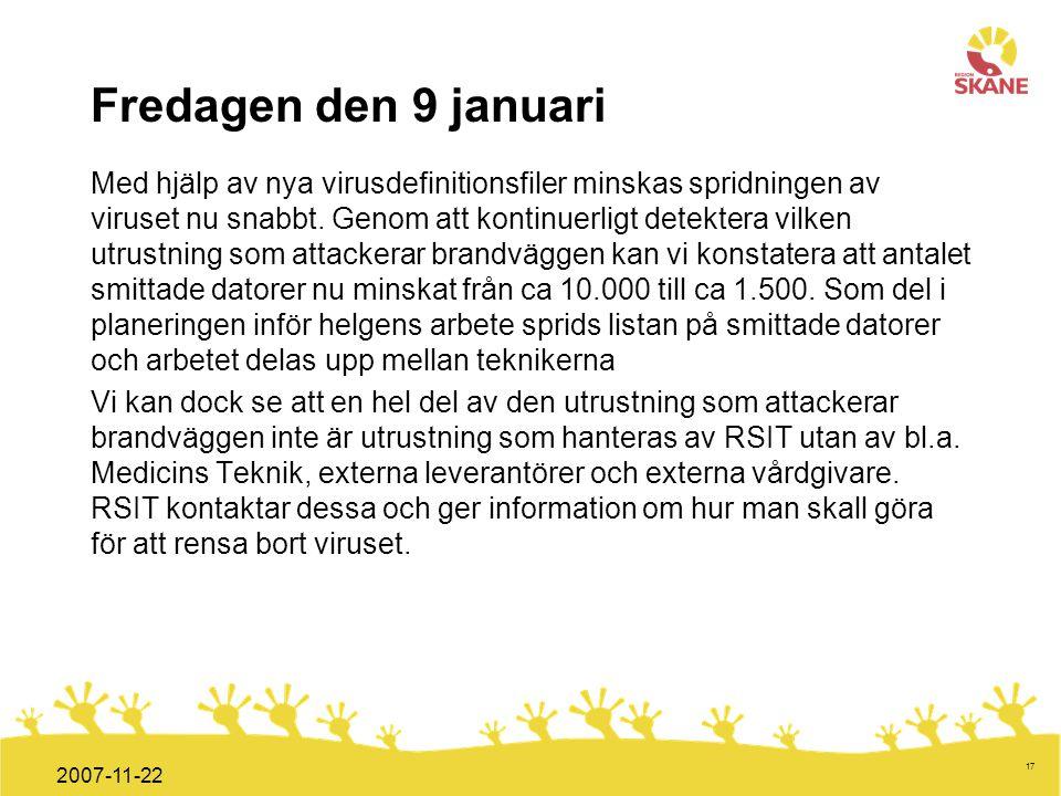 Fredagen den 9 januari