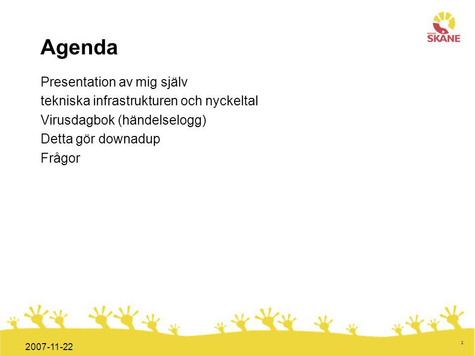 Agenda Presentation av mig själv
