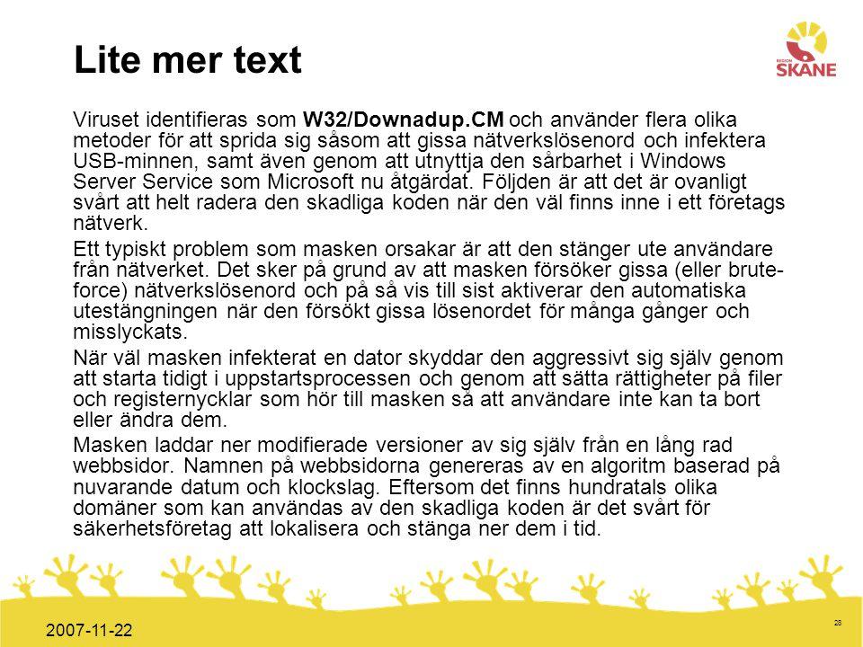 Lite mer text