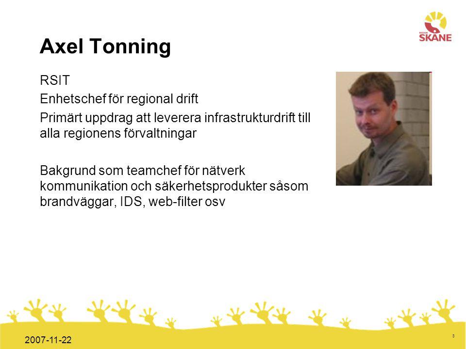 Axel Tonning RSIT Enhetschef för regional drift
