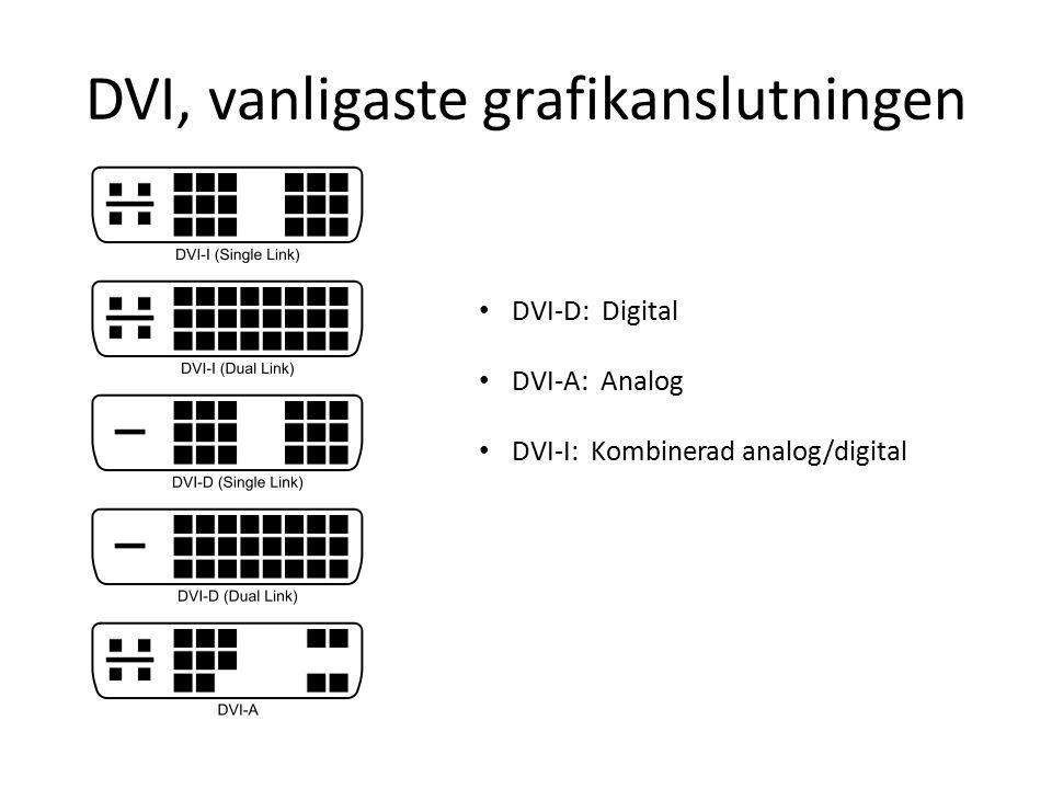 DVI, vanligaste grafikanslutningen