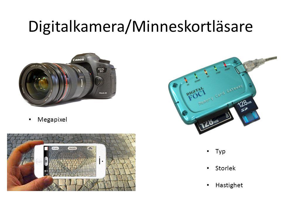 Digitalkamera/Minneskortläsare