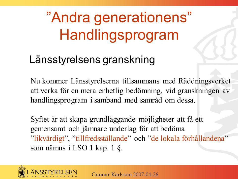 Andra generationens Handlingsprogram