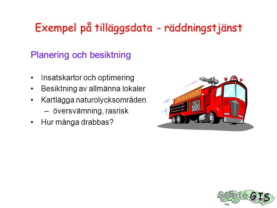 Exempel på tilläggsdata - räddningstjänst