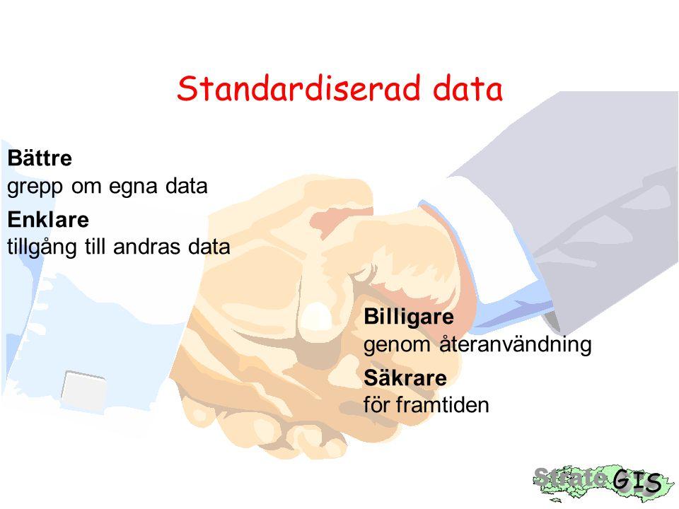 Standardiserad data Bättre grepp om egna data