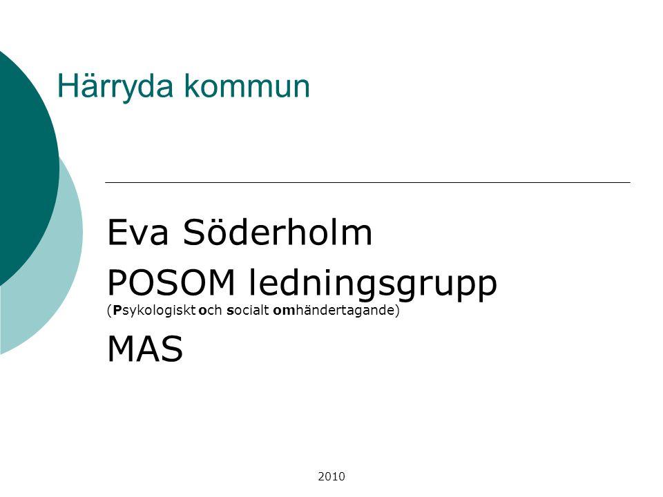 POSOM ledningsgrupp (Psykologiskt och socialt omhändertagande) MAS