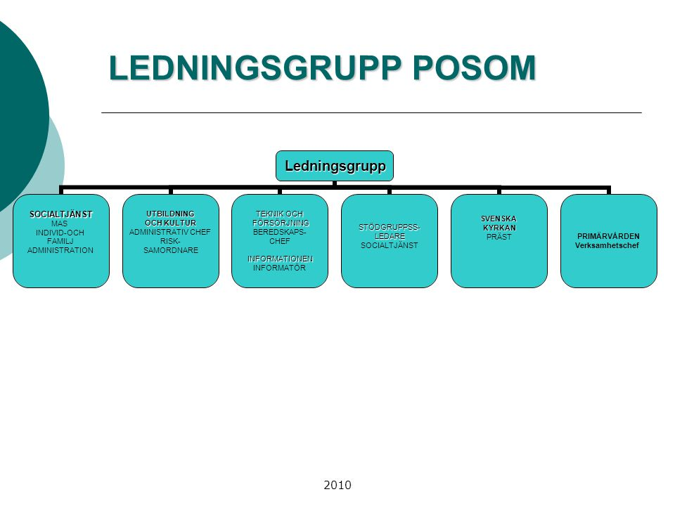 LEDNINGSGRUPP POSOM 2010