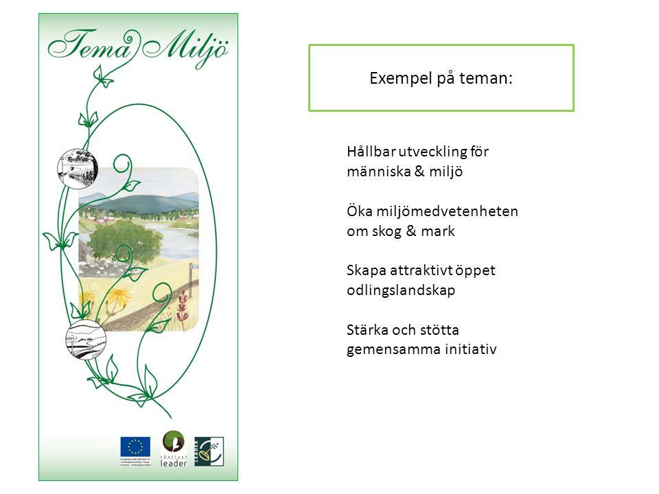 Exempel på teman: Hållbar utveckling för människa & miljö