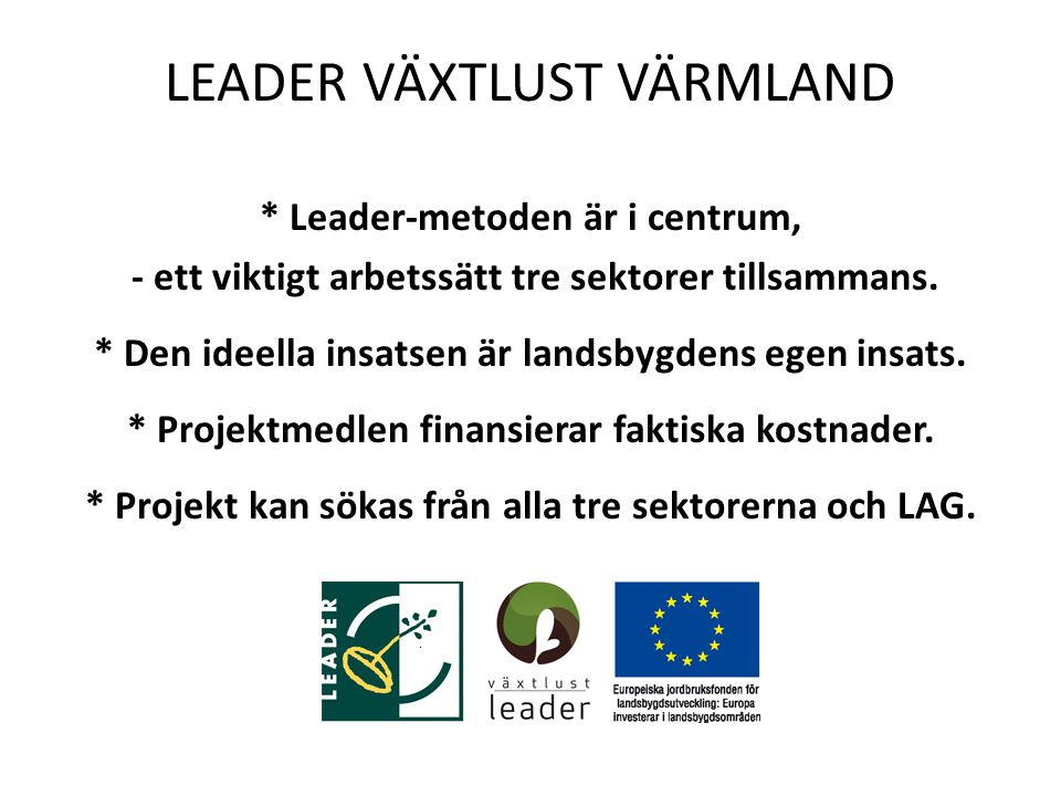 LEADER VÄXTLUST VÄRMLAND