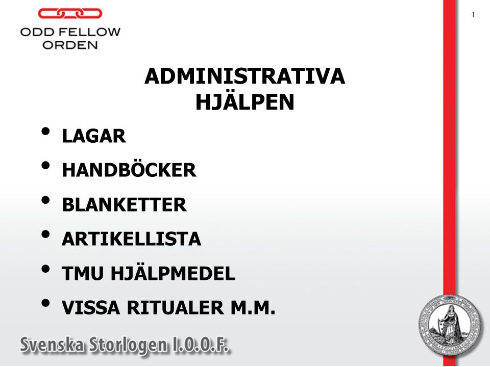 ADMINISTRATIVA HJÄLPEN