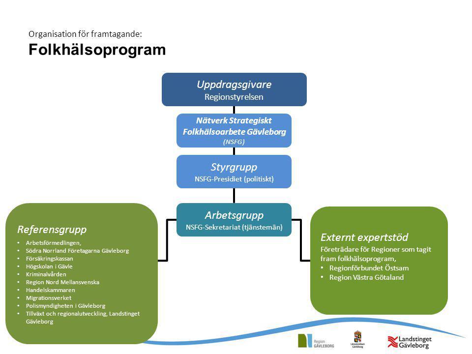 Organisation för framtagande: Folkhälsoprogram